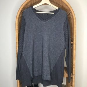 H by Halston Grey Knit Back Sweater Large